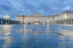 Королевский дворец Мадрида, Испании Стоковые Фотографии RF