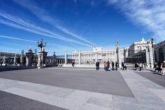 Королевский дворец Мадрида, Испании Стоковое Фото