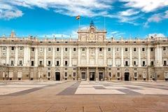 Королевский дворец Мадрида Стоковая Фотография