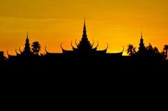 Королевский дворец, Пномпень Стоковое Изображение