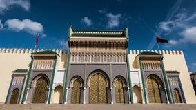 Королевский дворец Fez стоковое изображение