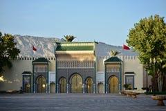 Королевский дворец Fez Dar el Makhzen Стоковые Фотографии RF