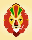 Королевский лев Rasta Стоковые Изображения