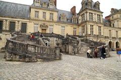 Королевский замок Фонтенбло резиденции стоковое фото