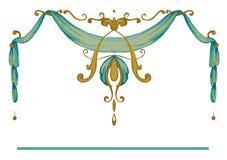 Королевский золотой богато украшенный стиль рамки стоковое изображение rf