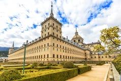 Королевский монастырь Escorial (1584) около Мадрида, Испании стоковые фото