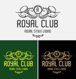 Королевский логотип клуба иллюстрация штока