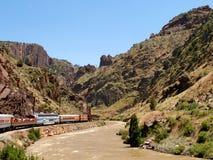 Королевский поезд трассы ущелья Стоковое Изображение RF
