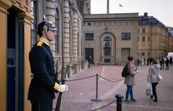 Королевский предохранитель на дворце Стокгольма, Швеции Стоковое Фото
