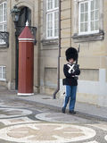 Королевский предохранитель на дворце Amalienborg, Копенгагене Дании Стоковые Изображения RF