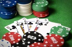 Королевский приток в покере стоковое фото rf