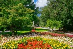 Королевский сад курорта в курортном городе Bad Reichenhall, Германии Стоковое Изображение