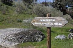 Королевский след скотин, эстремадура, Испания Стоковое Изображение