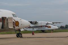Королевский тайский самолет полиции Стоковая Фотография RF