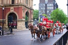 Королевский экипаж на улицах Лондона Стоковое фото RF