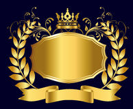 Королевский экран золота Стоковые Фотографии RF