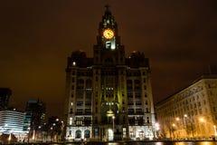 Королевское здание печени к ноча Стоковые Изображения RF