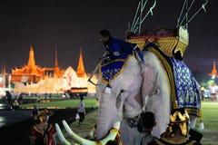 Королевское обременительное имущество на дне рождения тайского короля, a стоковое фото