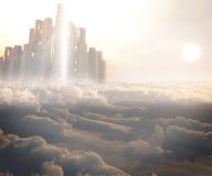 Королевство в облаках иллюстрация штока