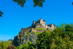 королевство соединенная Шотландия edinburgh замока стоковое фото rf
