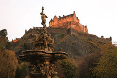королевство соединенная Шотландия edinburgh замока Стоковое Фото