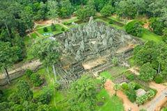Королевство Angkor Wat Siem Reap Камбоджи держателя Byon Tample Bakheng интереса Стоковые Изображения