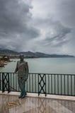 Король Альфонс XII на Balcón de Европе Стоковые Фото