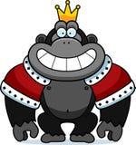 Король гориллы шаржа Стоковое Изображение