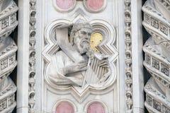 Король Дэвид, портал собора Флоренса Стоковая Фотография