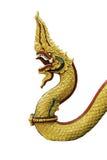 Король змея в тайском виске Стоковое Изображение RF