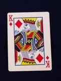 Король играя карточки диамантов стоковые изображения rf