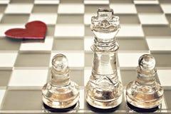 Король и пешки на шахматной доске Стоковое Фото
