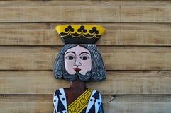 Король карточек стоковая фотография