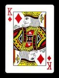 Король карточки диамантов играя, Стоковые Изображения