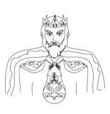 Король на белой предпосылке иллюстрация штока