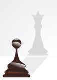 пешка и король Стоковые Фото