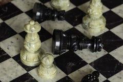 Король против ферзя Стоковое Фото