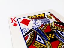 Король Плитка/карточка диамантов с белой предпосылкой Стоковое Фото