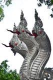 Король статуи naga в тайском templ Стоковые Фотографии RF