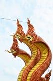 Король статуи naga в тайском templ Стоковые Фото