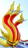 Король статуи Nagas на виске, Таиланде Стоковое фото RF