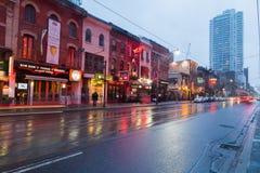Король Улица Восток в вечере Стоковое Изображение RF