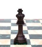 Король. Деревянная шахматная фигура Стоковое фото RF