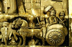 Король Ashoka с его войсками Стоковая Фотография RF