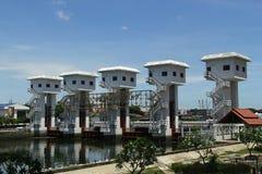 Король Bhumibol watergate на chanel Ladpho, Бангкоке Стоковые Фото