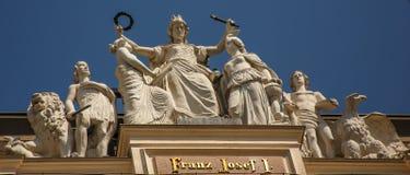 король franz стеклянный Венгрии i joseph императора Австралии запятнал Стоковые Изображения RF
