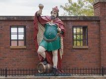 Король Gambrinus Статуя Стоковое фото RF