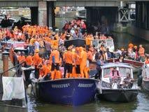 Король holyday в Амстердаме, Голландии Стоковая Фотография RF