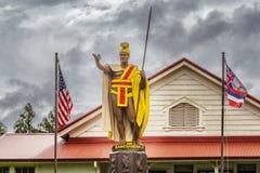 Король Kamehameha Статуя Стоковые Фото