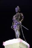 Король Mengrai Больш Памятник во времени вечера на Chiangrai, Таиланде Стоковые Фото